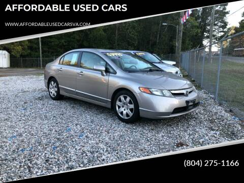 2006 Honda Civic for sale at AFFORDABLE USED CARS in Richmond VA