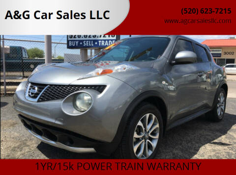 2012 Nissan JUKE for sale at A&G Car Sales  LLC in Tucson AZ