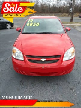2010 Chevrolet Cobalt for sale at BRAUNS AUTO SALES in Pottstown PA