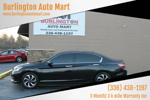 2016 Honda Accord for sale at Burlington Auto Mart in Burlington NC