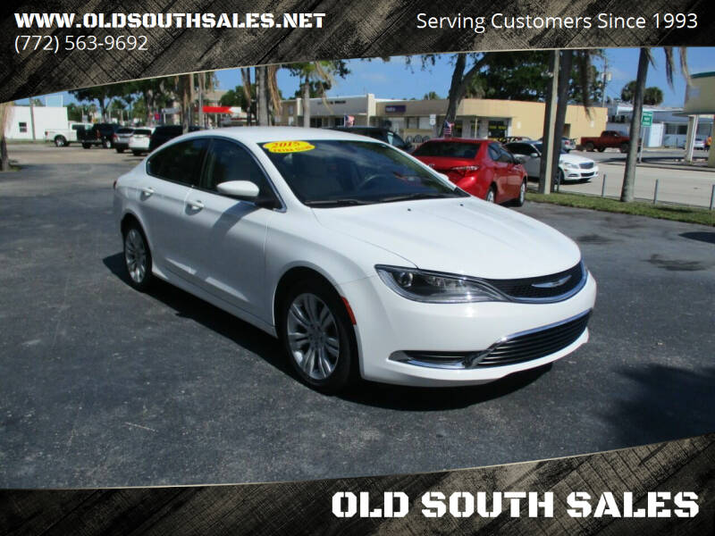 2015 Chrysler 200 for sale at OLD SOUTH SALES in Vero Beach FL