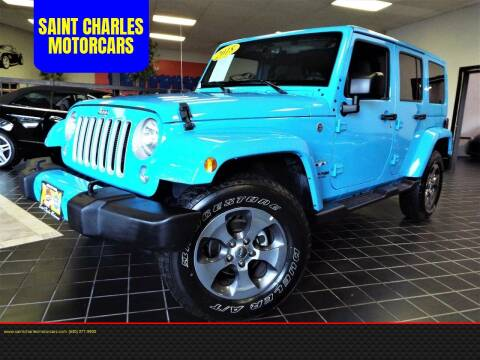 2018 Jeep Wrangler Unlimited for sale at SAINT CHARLES MOTORCARS in Saint Charles IL