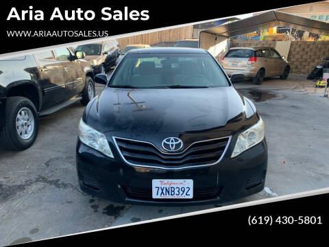 2010 Toyota Camry for sale at Aria Auto Sales in El Cajon CA