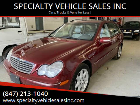 2003 Mercedes-Benz C-Class for sale at SPECIALTY VEHICLE SALES INC in Skokie IL