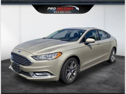 2017 Ford Fusion for sale at Pro Motors in Fairfield OH