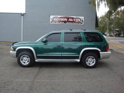 2003 Dodge Durango for sale at Motion Autos in Longview WA