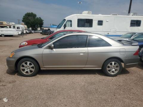 2003 Honda Civic for sale at PYRAMID MOTORS - Fountain Lot in Fountain CO