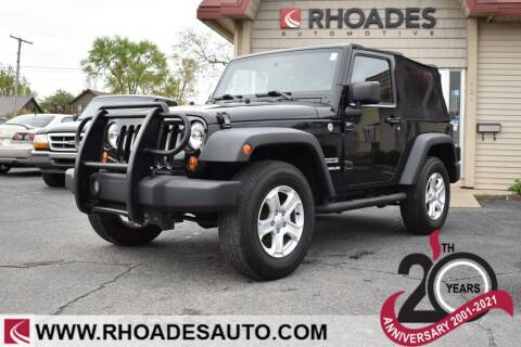 2010 Jeep Wrangler for sale at Rhoades Automotive in Columbia City IN