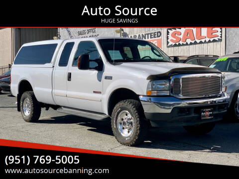 2004 Ford F-350 Super Duty for sale at Auto Source in Banning CA