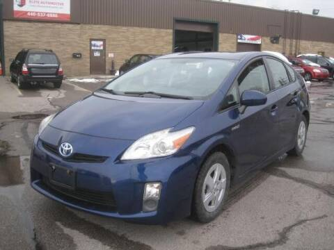 2011 Toyota Prius for sale at ELITE AUTOMOTIVE in Euclid OH