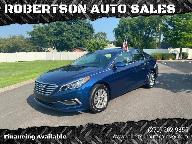 2017 Hyundai Sonata for sale at ROBERTSON AUTO SALES in Bowling Green KY