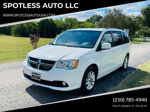 2018 Dodge Grand Caravan for sale at SPOTLESS AUTO LLC in San Antonio TX