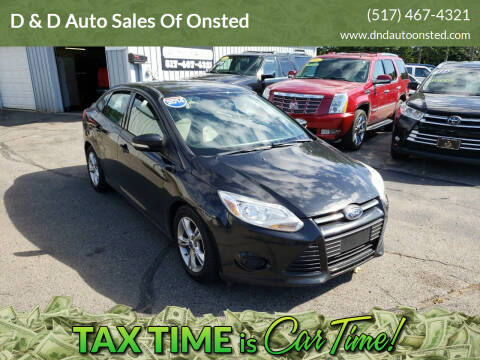2014 Ford Focus for sale at D & D Auto Sales Of Onsted in Onsted   Brooklyn MI