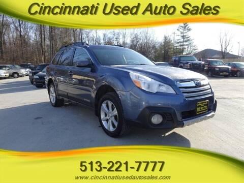 2013 Subaru Outback for sale at Cincinnati Used Auto Sales in Cincinnati OH