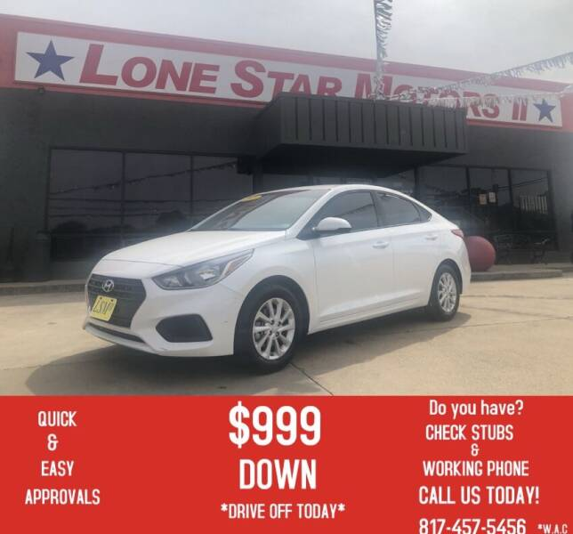 2018 Hyundai Accent for sale at LONE STAR MOTORS II in Fort Worth TX