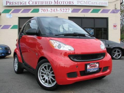 2012 Smart fortwo for sale at Prestige Certified Motors in Falls Church VA