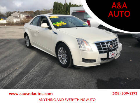 2013 Cadillac CTS for sale at A&A AUTO in Fairhaven MA