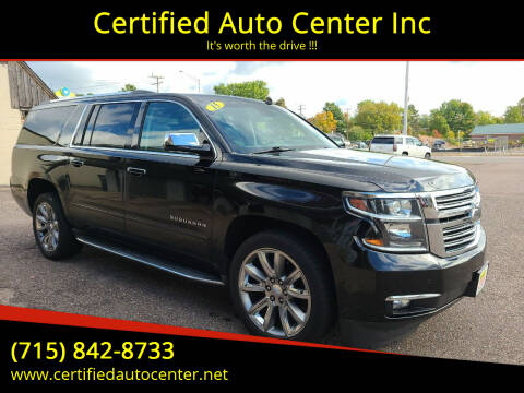 2015 Chevrolet Suburban for sale at Certified Auto Center Inc in Wausau WI