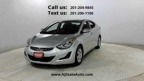2016 Hyundai Elantra for sale at NJ State Auto Used Cars in Jersey City NJ