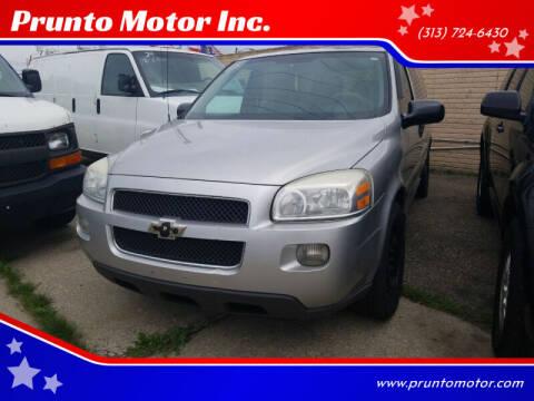 2008 Chevrolet Uplander for sale at Prunto Motor Inc. in Dearborn MI