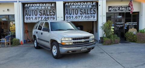 2004 Chevrolet Tahoe for sale at Affordable Imports Auto Sales in Murrieta CA