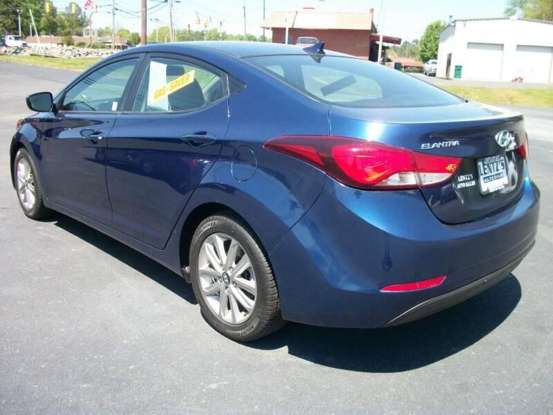 2016 Hyundai Elantra for sale at Lentz's Auto Sales in Albemarle NC