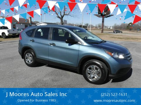 2014 Honda CR-V for sale at J Moores Auto Sales Inc in Kinston NC