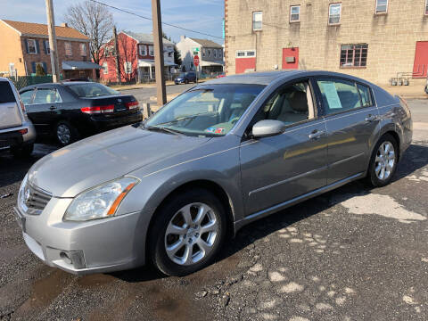 2007 Nissan Maxima for sale at Centre City Imports Inc in Reading PA