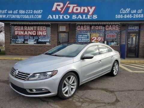 2013 Volkswagen CC for sale at R Tony Auto Sales in Clinton Township MI