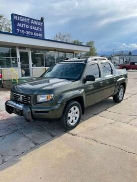 2006 Honda Ridgeline for sale at Right Away Auto Sales in Colorado Springs CO