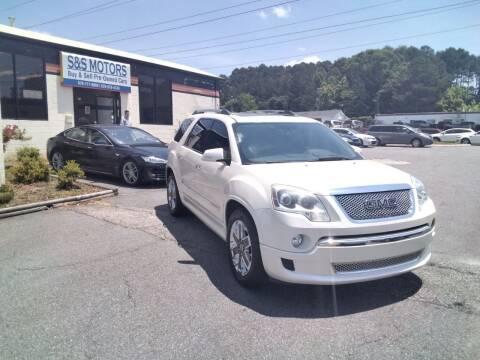 2012 GMC Acadia for sale at S & S Motors in Marietta GA