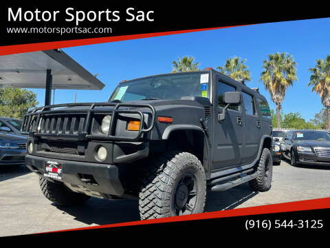 2004 HUMMER H2 for sale at Motor Sports Sac in Sacramento CA