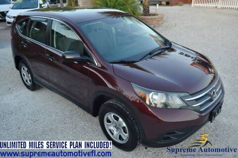 2014 Honda CR-V for sale at Supreme Automotive in Land O Lakes FL