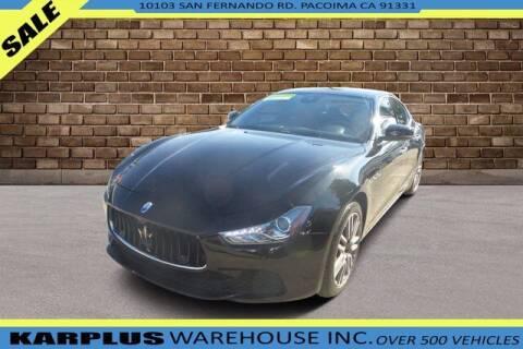 2017 Maserati Ghibli for sale at Karplus Warehouse in Pacoima CA