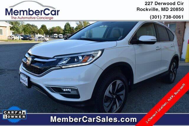 2016 Honda CR-V for sale at MemberCar in Rockville MD