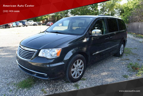 2011 Chrysler Town and Country for sale at American Auto Center in Austin TX