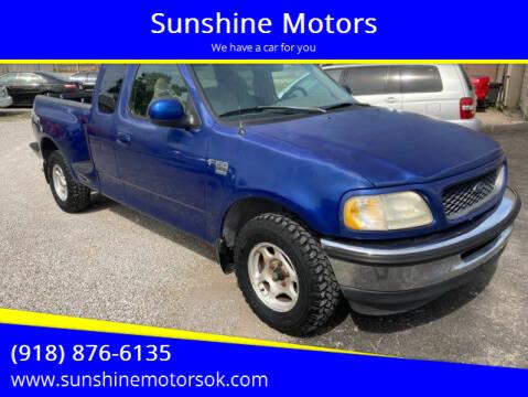 1998 Ford F-150 for sale at Sunshine Motors in Bartlesville OK