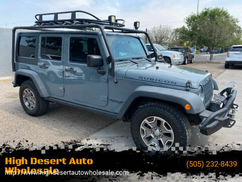 2015 Jeep Wrangler Unlimited for sale at High Desert Auto Wholesale in Albuquerque NM