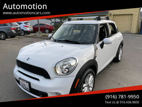2012 MINI Cooper Countryman for sale at Automotion in Roseville CA