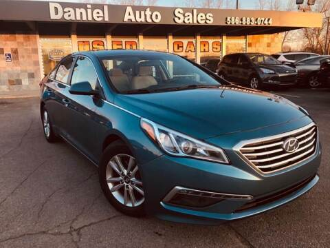 2015 Hyundai Sonata for sale at Daniel Auto Sales inc in Clinton Township MI