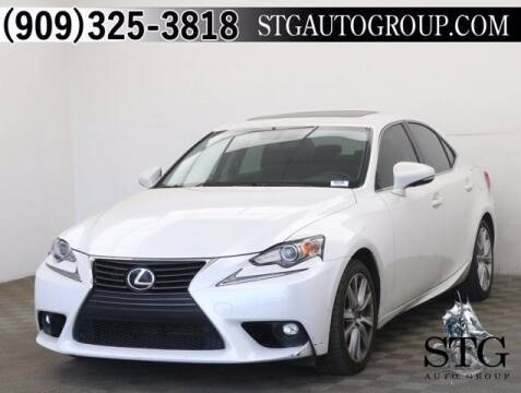 2016 Lexus IS 200t for sale at STG Auto Group in Montclair CA