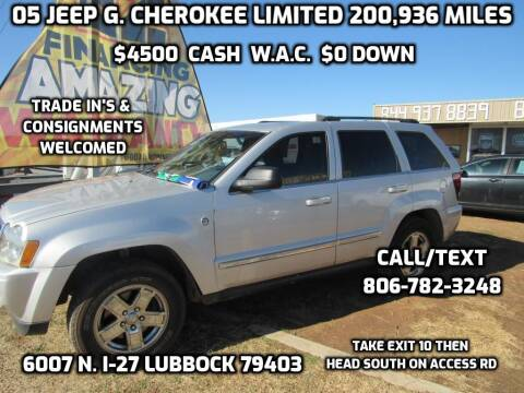 2005 Jeep Grand Cherokee for sale at West Texas Consignment in Lubbock TX