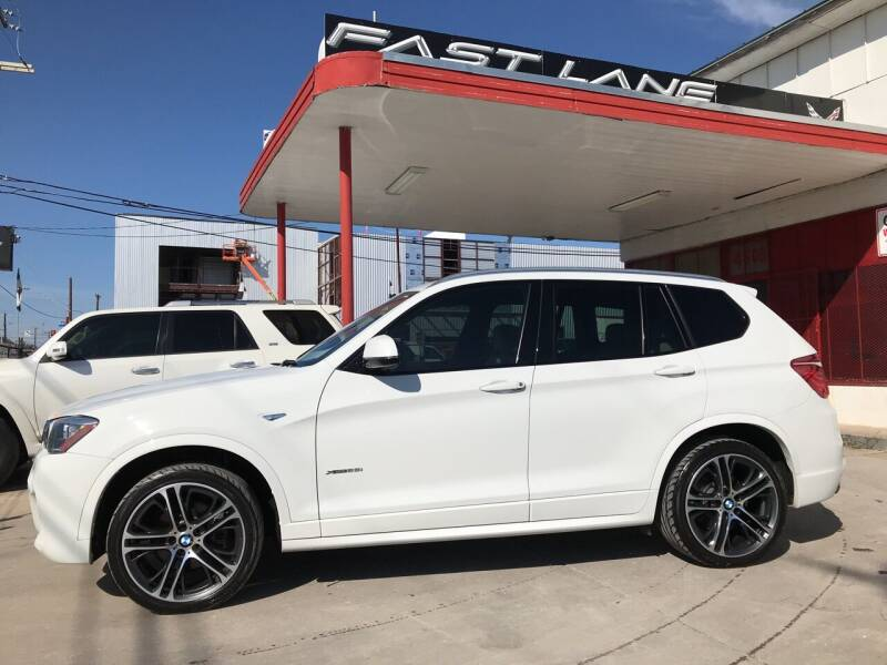 2016 BMW X3 for sale at FAST LANE AUTO SALES in San Antonio TX