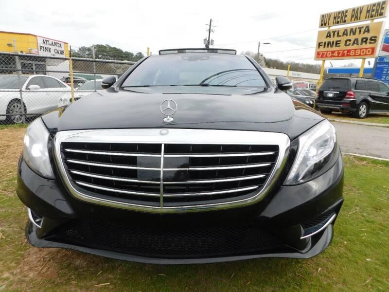 2014 Mercedes-Benz S-Class for sale at Atlanta Fine Cars in Jonesboro GA
