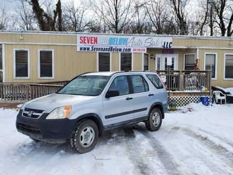 2002 Honda CR-V for sale at Seven and Below Auto Sales, LLC in Rockville MD