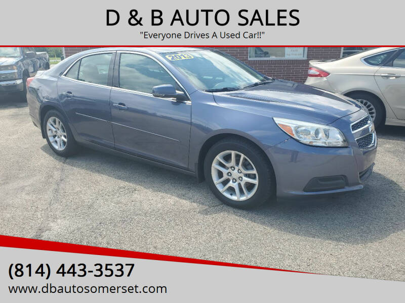2013 Chevrolet Malibu for sale at D & B AUTO SALES in Somerset PA