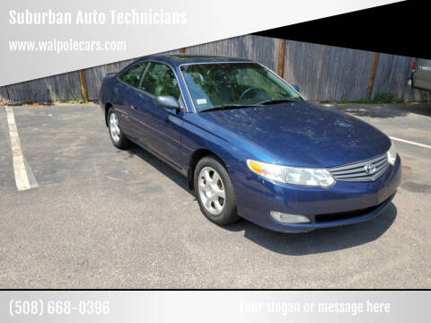 2003 Toyota Camry Solara for sale at Suburban Auto Technicians in Walpole MA