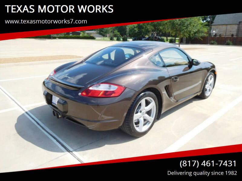 2008 Porsche Cayman for sale at TEXAS MOTOR WORKS in Arlington TX