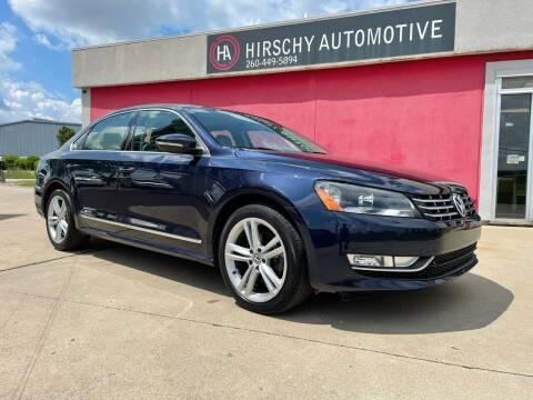 2012 Volkswagen Passat for sale at Hirschy Automotive in Fort Wayne IN