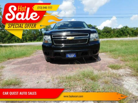 2012 Chevrolet Tahoe for sale at CAR QUEST AUTO SALES in Houston TX